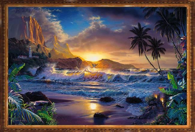 Анимация морской пейзаж